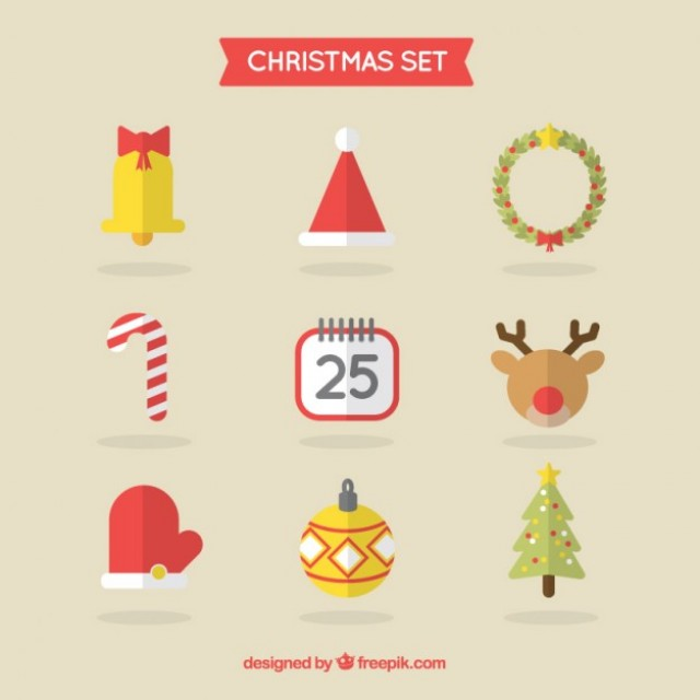 Free vector Christmas Icon Collection #25851
