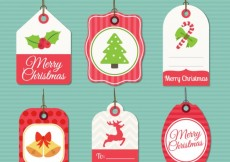 Free vector Christmas Labels Collection #25837