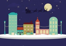 Free vector Christmas neighborhood #26923
