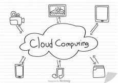 Free vector Cloud Computing Concept Sketch On Paper Vector #27951