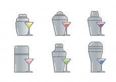 Free vector Cocktail Shaker Icon Vector #24545