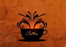 Free vector Coffee cup vector background #25766