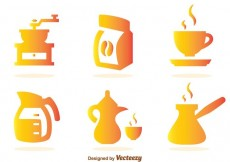 Free vector Coffee Gradient Icons #20997