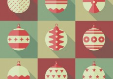 Free vector Collection of christmas baubles #25318