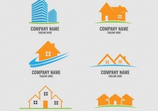 Free vector Collection of real estate logos #26937