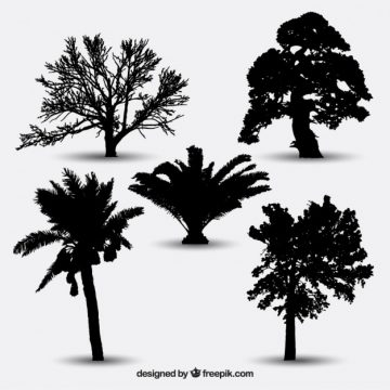 Free vector Collection of tree silhouettes #25245
