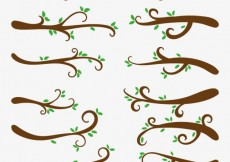Free vector Collection of trees branches #24982
