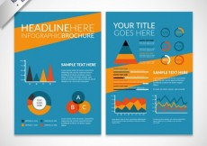Free vector Colored infographic brochure #26803