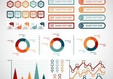 Free vector Colored infographic elements #26811