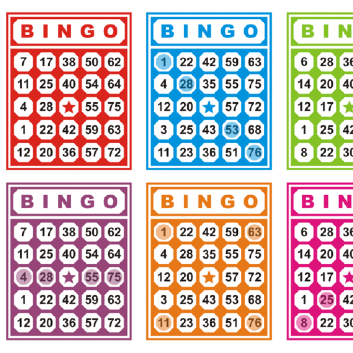 Free vector Colorful Bingo Cards Free Vector #26808 | My