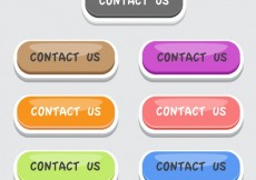 Free vector Colorful contact us buttons set #20484