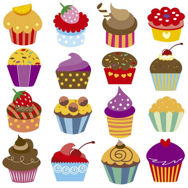 Box Cup Cake Vector Free Download