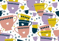 Free vector Colorful cups pattern #26699