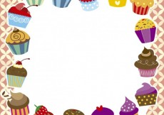 Free vector Colorful muffin's frame #26707