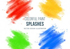 Free vector Colorful paint splashes #27557