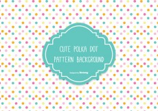 Free vector Colorful Polka Dot Background #24353