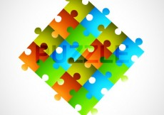 Free vector Colorful puzzle pieces #24967