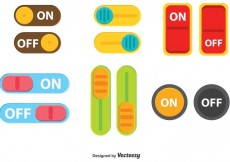 Free vector Colorful Switch On Off Button Vector #21789