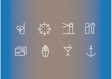 Free vector Cruise Liner Vector Icons #23369