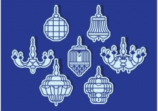 Free vector Crystal Chandelier Vector Pack #23531