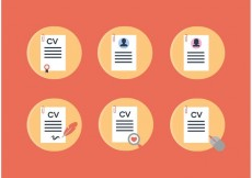 Free vector Curriculum Vitae Vector Icons #22882