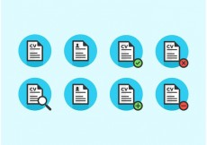Free vector Curriculum Vitae Vector Icons Free #23134