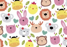 Free vector Cute animals head background #26687
