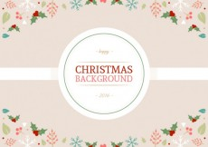 Free vector Cute christmas background in floral style #26481