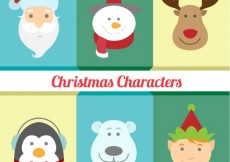 Free vector Cute christmas characters #27146