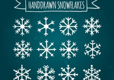 Free vector Cute collection of snowflakes #25164