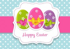 Free vector Cute easter card with easter eggs #20640