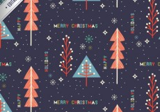 Free vector Cute merry christmas pattern #25025