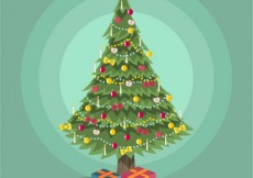 Free vector Decorated christmas tree #25359