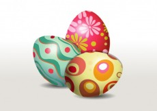 Free vector Decorated easter eggs #22270
