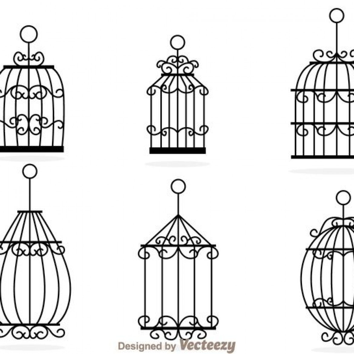 Fancy Bird Cage Drawing