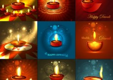 Free vector Diwali greetings collection #25100