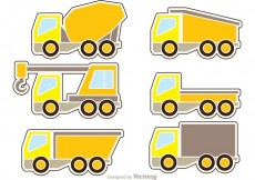 Free vector Dump Trucks Icons Vector #27356