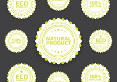 Free vector Eco badges collection #25951