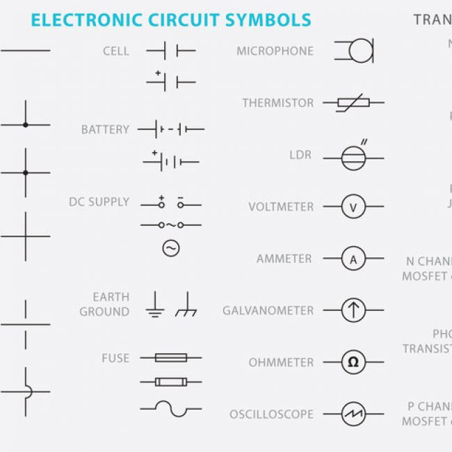 Free vector Electronic Circuit Symbol Vectors #26004 | My Graphic Hunt