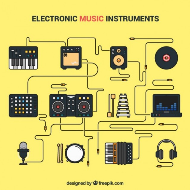 Free vector Electronic music instruments #24594