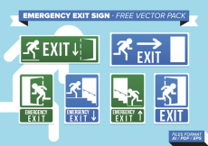 Free vector Emergency Exit Sign Free Vector Pack #24805