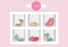 Free vector Fashion Shoes Sandal Case Vector #20391