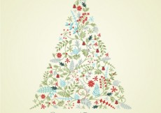 Free vector Floral Christmas Card #25865