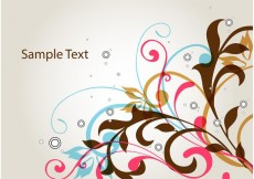 Free vector Floral Swirl Vector Background #27732