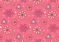 Free vector Flower's pattern in hand drawn style #27307