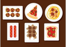 Free vector Food On The Plate Vectors #21261