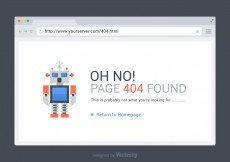 Free vector Free 404 Page Found Vector Template #20799