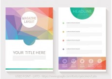 Free vector Free Abstract Triangular Magazine Layout Vector #21713