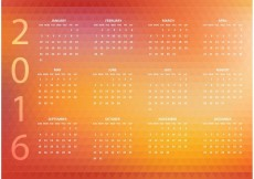 Free vector Free Abstract Vector 2016 Polygonal Calendar #23195