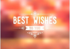 Free vector Free Best Wishes Typography Background Vector #23817